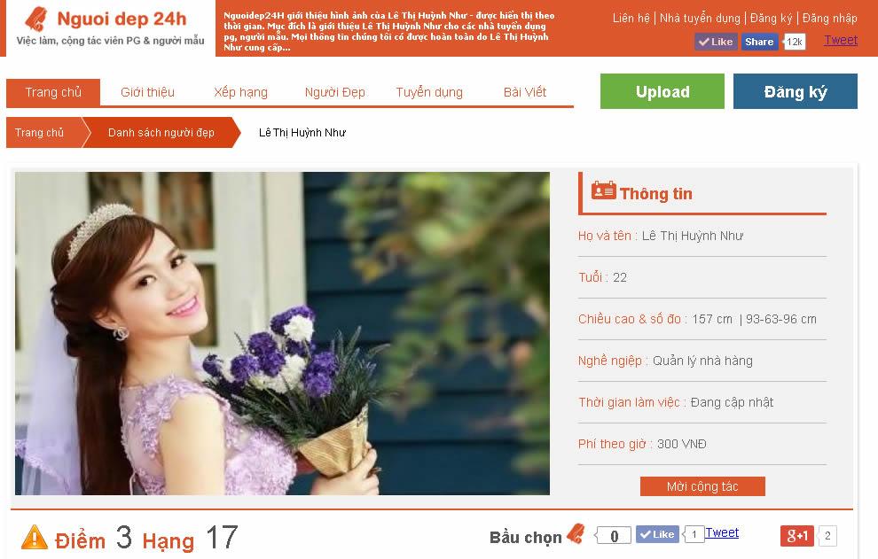 ベトナム人美女時計『Nguoidep24h」をリリースしました。