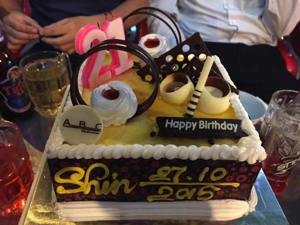 海外で初の誕生日