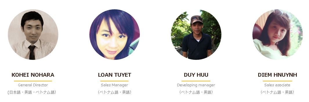 ベトナム人採用のViecoiのメンバー紹介画像